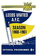 Leeds United Match Programme on Canvas