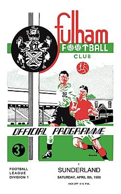 Fulham Match Programme on Canvas