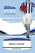 West Bromwich Albion Match Programme on Canvas