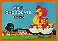 CHOCOLATE EGGS POSTCARD