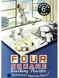 Four Square Washing powder Postcard