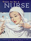 TRAIN TO BE A NURSE POSTCARD