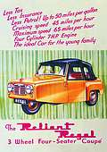 Post Card  Reliant Regal