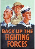 Postcard - Back up the fighting forces