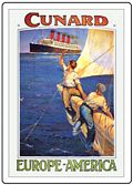 CUNARD AHOY FRIDGE MAGNET
