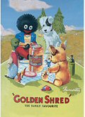 Golden Shred Picnic - Tea Towel