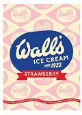 Magnet - Vintage Wall`s Ice Cream (Strawberry)