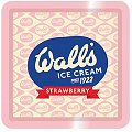 Vintage Walls Ice Cream (Strawberry)  - Tin Tray