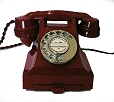 Red 1950s Bakelite Phone