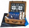 Edwardian Picnic Hamper (6 Place Settings) - Blue