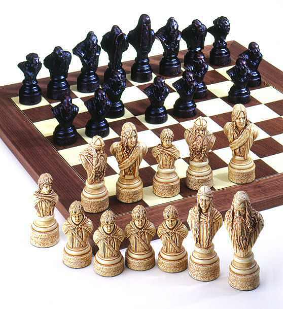 Lord Of The Rings Themed Chess Set