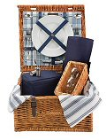 Chambray Wine Lovers Picnic Basket - 2 Person