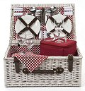 Polka Dot Picnic Basket, 4 Settings