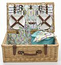 Slide Flower Picnic Basket, 4 Settings