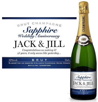 Champagne 45th Wedding Anniversary Present